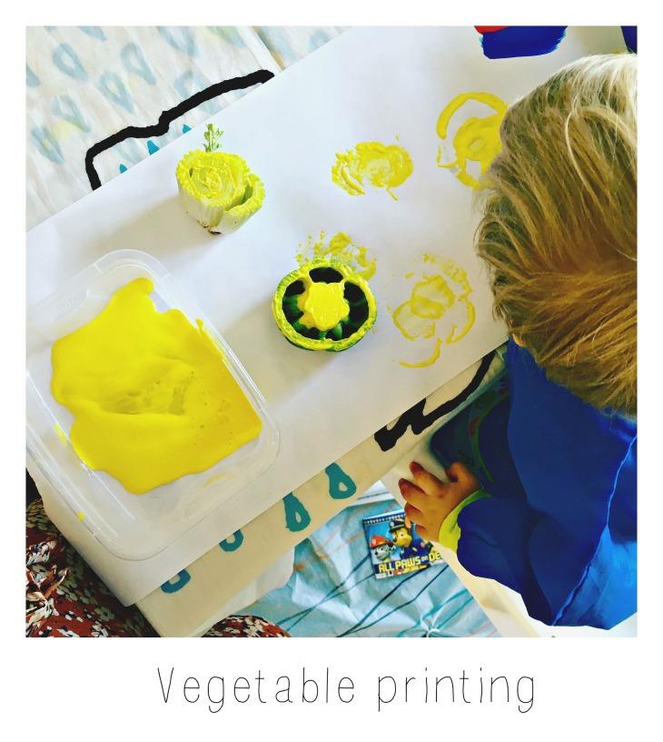 veggie printing